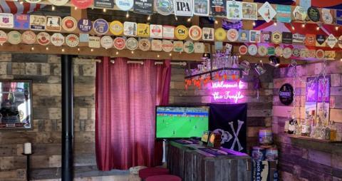 Inside a fan's homemade pub