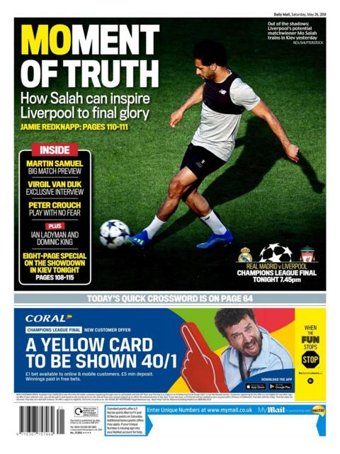 Saturday's Mail back page
