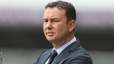 Plymouth Argyle manager Derek Adams.