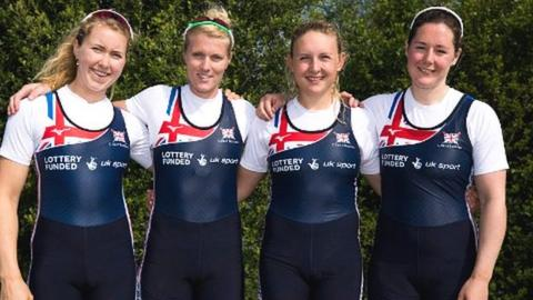 Mathilda Hodgkins-Byrne, Zoe Lee, Jess Leyden and Melissa Wilson will race the women's quad at the second World Cup meeting of the season