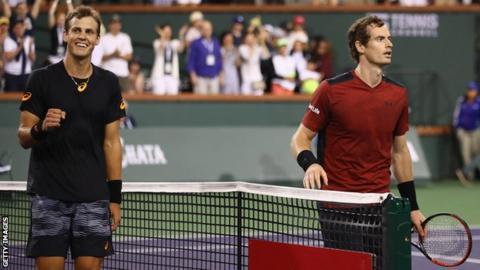 Vasek Pospisil and Andy Murray