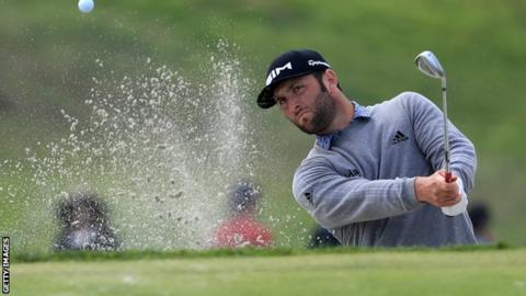 Jon Rahm in the third round at the Farmers Insurance Open