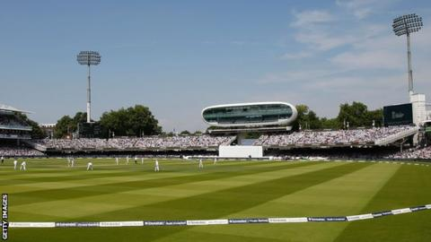 A view of the Compton and Edrich Stands at Lord's cricket ground
