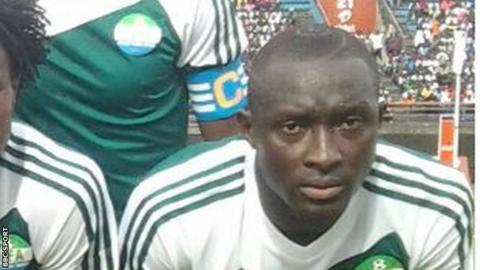 Sierra Leone midfielder Alfred Sankoh