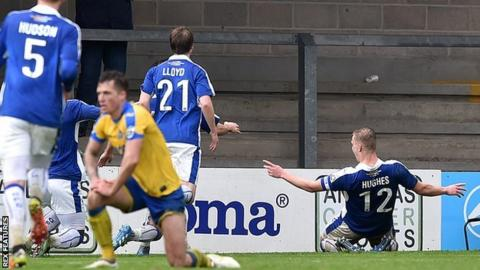 Sam Hughes' late winning goal in the 1-0 win at Torquay on 1 April ultimately proved to be the goal that kept Chester up