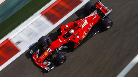 Sebastian Vettel in action at the Abu Dhabi Grand Prix