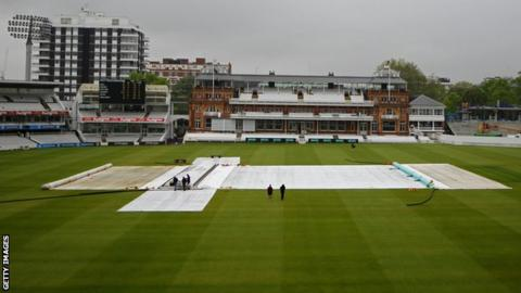 Lord's with the covers on