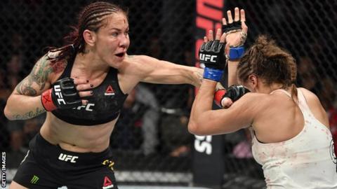 Cris Cyborg punches Felicia Spencer