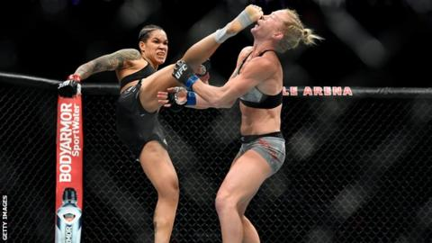 Holly Holm lost to Amanda Nunes on her last visit to the Octagon in July 2019