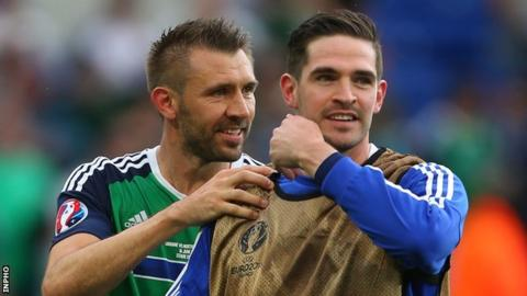 Gareth McAuley and Kyle Lafferty