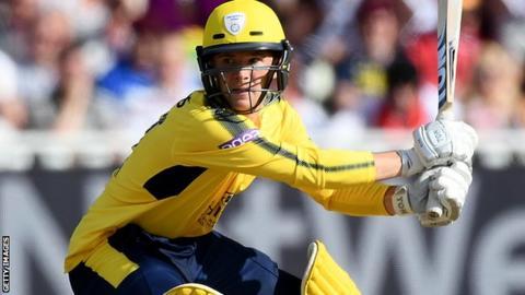Hampshire wicketkeeper-batsman Calvin Dickinson