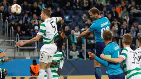 Celtic out of Europa League after defeat at Zenit St Petersburg