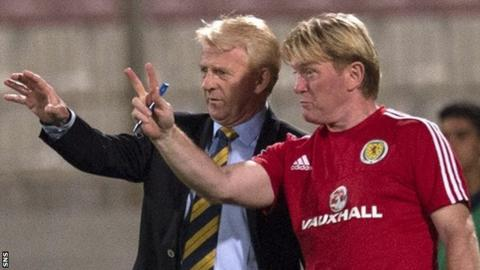 Scotland head coach Gordon Strachan and Stuart McCall