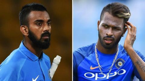 KL Rahul (left) and Hardik Pandya