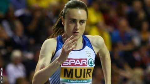 Diamond League: Laura Muir third in 800m, Sifan Hassan breaks mile world record
