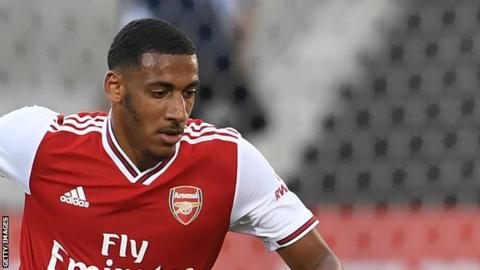 Dominic Thompson played for Arsenal against Colorado Rapids, Fiorentina and Angers in pre-season
