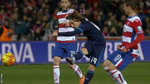 Luka Modric scores for Real Madrid