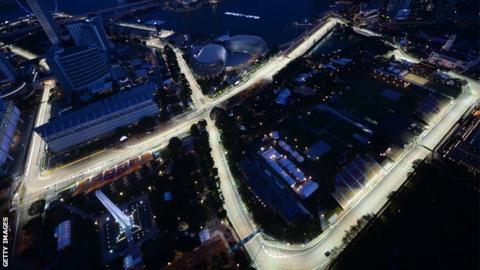 Singapore grand prix circuit