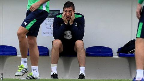 Stephen Ward sat out Republic training on Friday morning