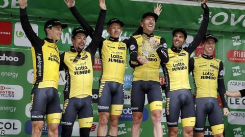 LottoNL-Jumbo celebrate