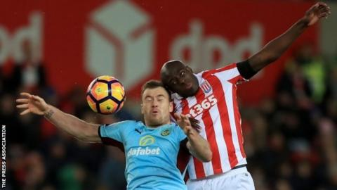 Stoke defender Bruno Martins Indi
