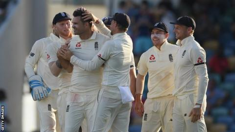 England bowled out for 77 in first innings against West Indies