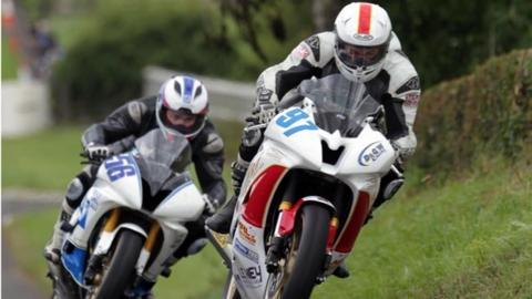 Action from the Mid Antrim 150 road races in 2013