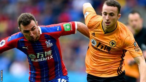 Crystal Palace 1-1 Wolverhampton Wanderers: Diogo Jota's late goal rescues point for visitors