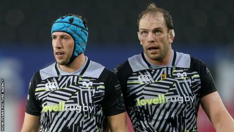 Alun Wyn Jones and Justin Tipuric