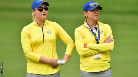 Charley Hull and Annika Sorenstam