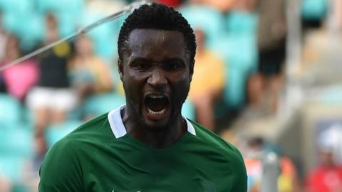 ce918bdb96f Nigeria skipper John Mikel Obi is in a positive mood ahead of the match  with Algeria
