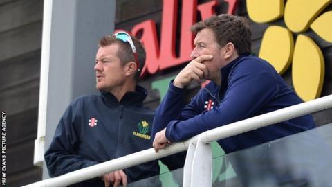 Glamorgan head coach Toby Radford and Robert Croft
