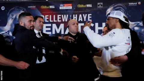 Tony Bellew and David Haye clash in news conference