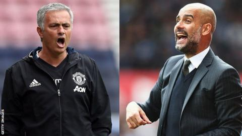 Manchester City and Manchester United