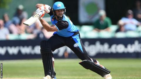 Ross Whiteley shared a stand of 110 in 10 overs with Ben Cox
