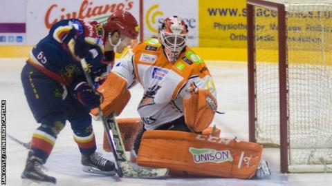 Edinburgh Capitals' Garrett Milan initiated their comeback, although they lost on penalty shots to Sheffield Steelers on Saturday