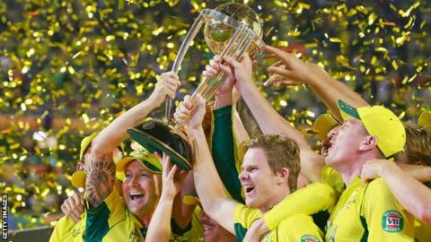 Australia lift the World Cup in 2015