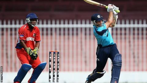 Scotland's total of 204 proved too much for Bermuda