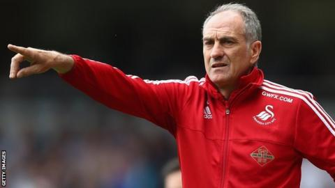 Swansea have won seven and drawn three of Francesco Guidolin's 15 games in charge so far