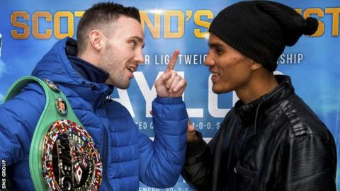Josh Taylor and Winston Campos struggle to keep a straight face