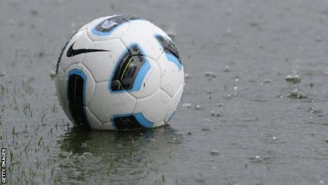 A waterlogged pitch has led to five postponements at the Belfast Loughshore Arena