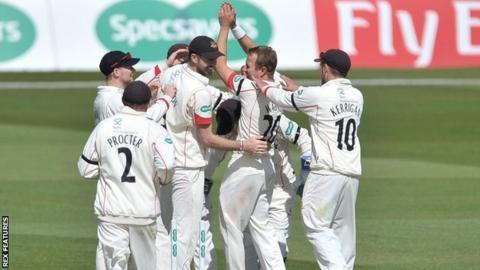 Neil Wagner celebrates the fall of Brendan Taylor's wicket