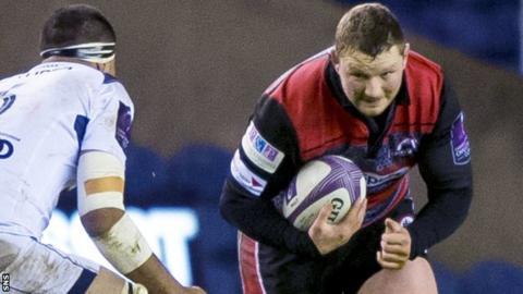 John Andress in action for Edinburgh