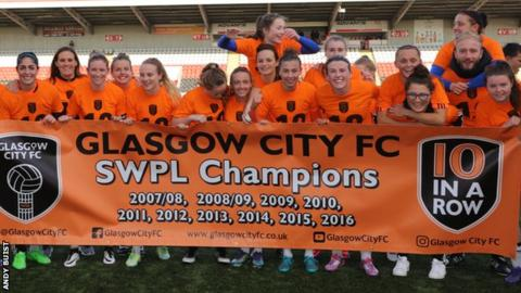 Glasgow City celebrate