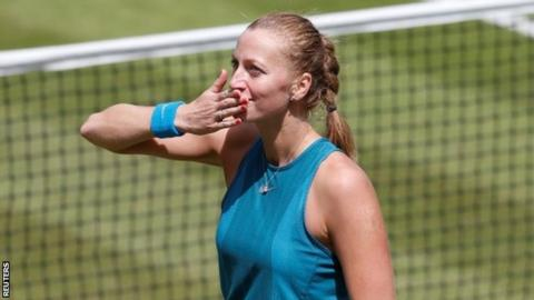 Nature Valley Classic: Petra Kvitova reaches quarter-finals in Birmingham