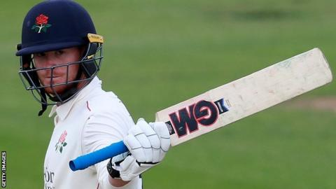 Alex Davies in action for Lancashire