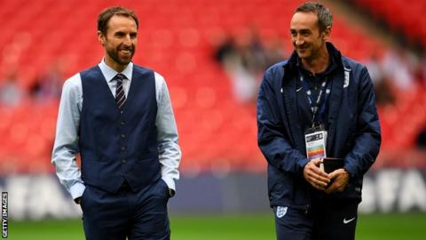 Gareth Southgate and Dave Reddin