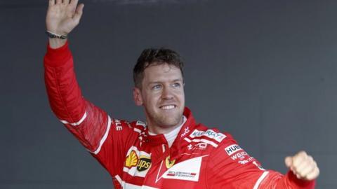 Vettel celebrates