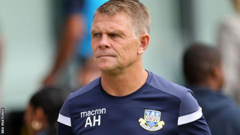 Andy Hessenthaler on the sidelines at Eastleigh