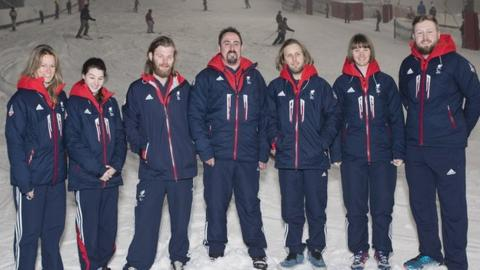 Members of the Para skiing and Para Snowboard teams